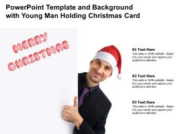 Powerpoint Template And Background With Young Man Holding Christmas Card
