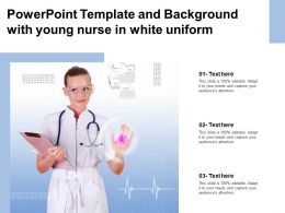 Powerpoint Template And Background With Young Nurse In White Uniform