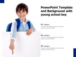 Powerpoint Template And Background With Young School Boy