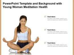 Powerpoint Template And Background With Young Woman Meditation Health