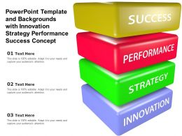 Powerpoint Template And Backgrounds With Innovation Strategy Performance Success Concept