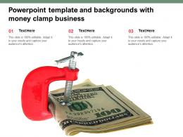 Powerpoint Template And Backgrounds With Money Clamp Business