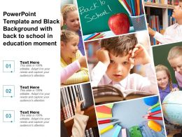 Powerpoint Template And Black Background With Back To School In Education Moment