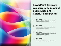 Powerpoint Template And Slide With Beautiful Curve Lines And Colorful Background