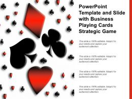 Powerpoint Template And Slide With Business Playing Cards Strategic Game