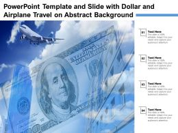 Powerpoint Template And Slide With Dollar And Airplane Travel On Abstract Background