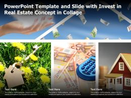 Powerpoint Template And Slide With Invest In Real Estate Concept In Collage