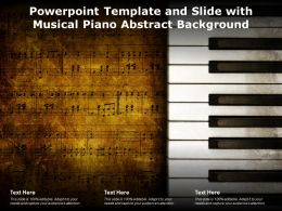Powerpoint Template And Slide With Musical Piano Abstract Background
