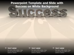 Powerpoint Template And Slide With Success On White Background