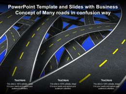 Powerpoint Template And Slides With Business Concept Of Many Roads In Confusion Way