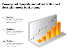 Powerpoint Template And Slides With Chart Flow With Arrow Background