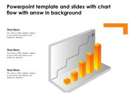 Powerpoint Template And Slides With Chart Flow With Arrow In Background