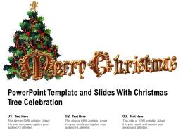 Powerpoint Template And Slides With Christmas Tree Celebration