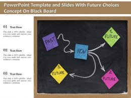 Powerpoint Template And Slides With Future Choices Concept On Black Board