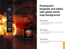 Powerpoint Template And Slides With Globe World Map Background