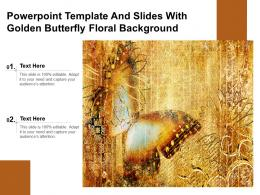 Powerpoint Template And Slides With Golden Butterfly Floral Background