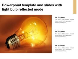 Powerpoint Template And Slides With Light Bulb Reflected Mode