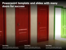 Powerpoint Template And Slides With Many Doors For Success
