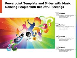 Powerpoint Template And Slides With Music Dancing People With Beautiful Feelings