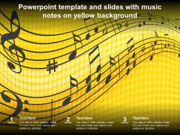 Powerpoint Template And Slides With Music Notes On Yellow Background