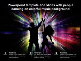 Powerpoint Template And Slides With People Dancing On Colorful Music Background