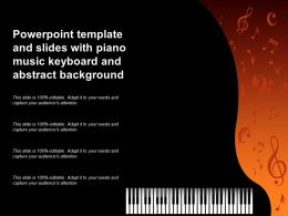 Powerpoint Template And Slides With Piano Music Keyboard And Abstract Background