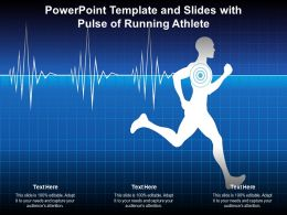 Powerpoint Template And Slides With Pulse Of Running Athlete