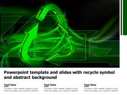 Powerpoint Template And Slides With Recycle Symbol And Abstract Background