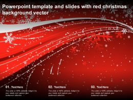 Powerpoint Template And Slides With Red Christmas Background Vector
