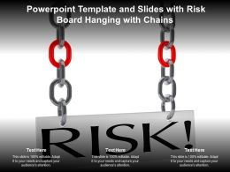 Powerpoint Template And Slides With Risk Board Hanging With Chains