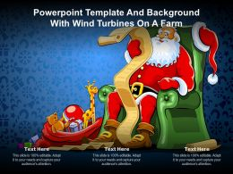 Powerpoint Template And Slides With Santa Clous Sitting On Chair Christmas Celebration