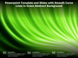 Powerpoint Template And Slides With Smooth Curve Lines In Green Abstract Background