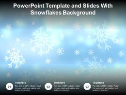 Powerpoint Template And Slides With Snowflakes Background