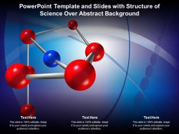 Powerpoint Template And Slides With Structure Of Science Over Abstract Background