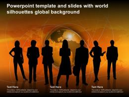 Powerpoint Template And Slides With World Silhouettes Global Background