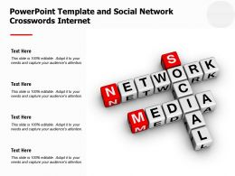 Powerpoint Template And Social Network Crosswords Internet