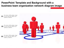 Powerpoint Template And With A Business Team Organization Network Diagram Image