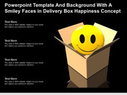 Powerpoint Template And With A Smiley Faces In Delivery Box Happiness Concept