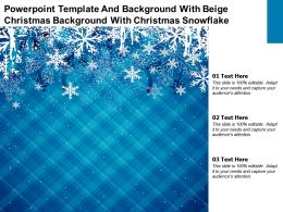 Powerpoint Template And With Beige Christmas Background With Christmas Snowflake
