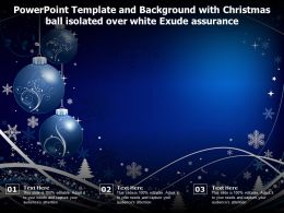 Powerpoint Template And With Christmas Ball Isolated Over White Exude Assurance