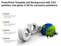 Powerpoint Template And With Co2 Pollution And Globe In Tilt For Excessive Pollutions