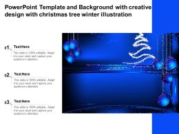 Powerpoint Template And With Creative Design With Christmas Tree Winter Illustration
