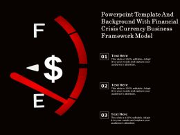 Powerpoint Template And With Financial Crisis Currency Business Framework Model
