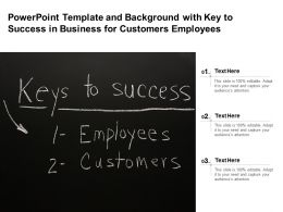 Powerpoint Template And With Key To Success In Business For Customers Employees