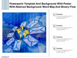 Powerpoint Template And With Poster With Abstract Background Word Map And Binary Flow