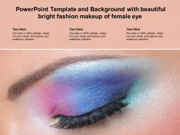 Powerpoint Template Background With Beautiful Bright Fashion Makeup Of Female Eye