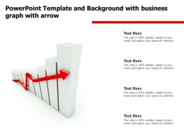 Powerpoint Template Background With Business Graph With Arrow Ppt Powerpoint
