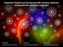 Powerpoint Template Background With Christmas Multicolor Background With Snowflakes Magic Light