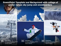Powerpoint Template Background With Collage Of Winter Nature Sky Jump And Snowboarders