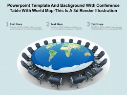Powerpoint Template Background With Conference Table With World Map This Is A 3d Render Illustration